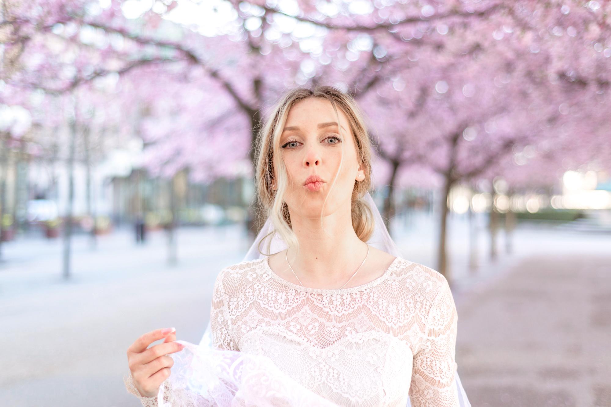 Bridal Inspiration in Cherry Blossom