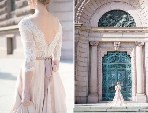 Pastel Wedding Dress Editorial