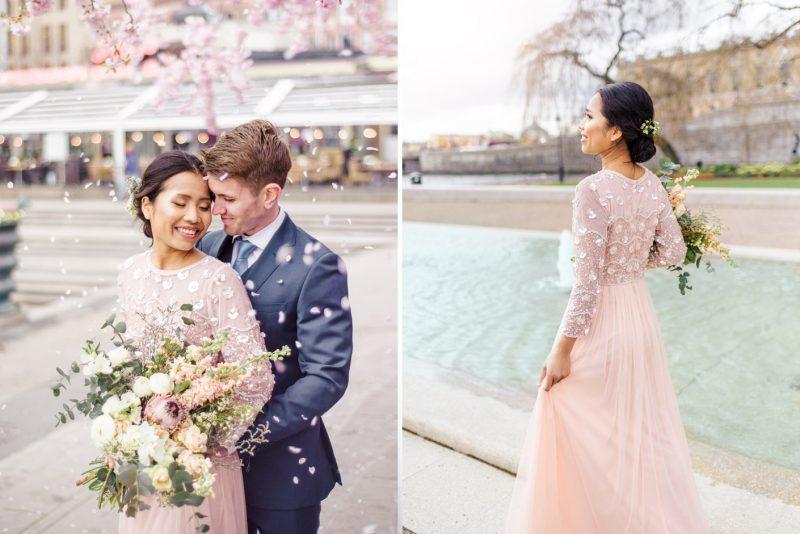 Engagement shoot Kungsträdsgården cherry blossom