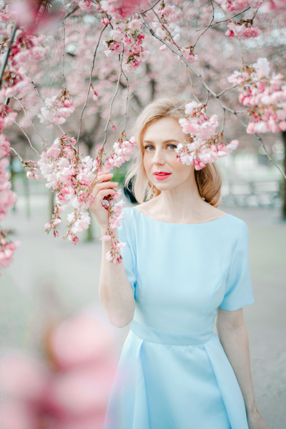 Portrait Photo Session in Cherry Blossom