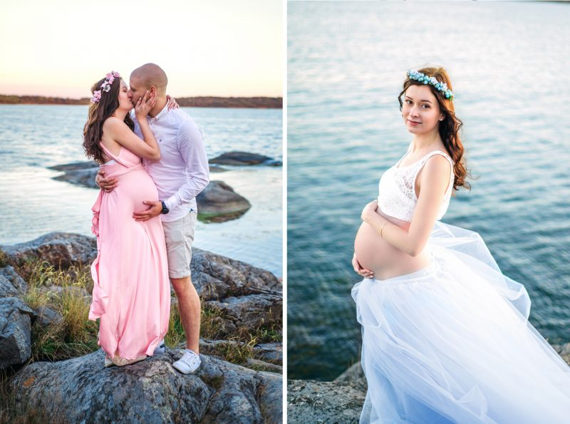 Pregnancy Photo by the Ocean