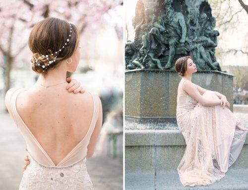 Cherry Blossom Bride. Sophisticated Wedding Editorial