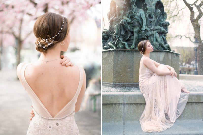 Cherry blossom bridal inspiration, wedding photographer stockholm