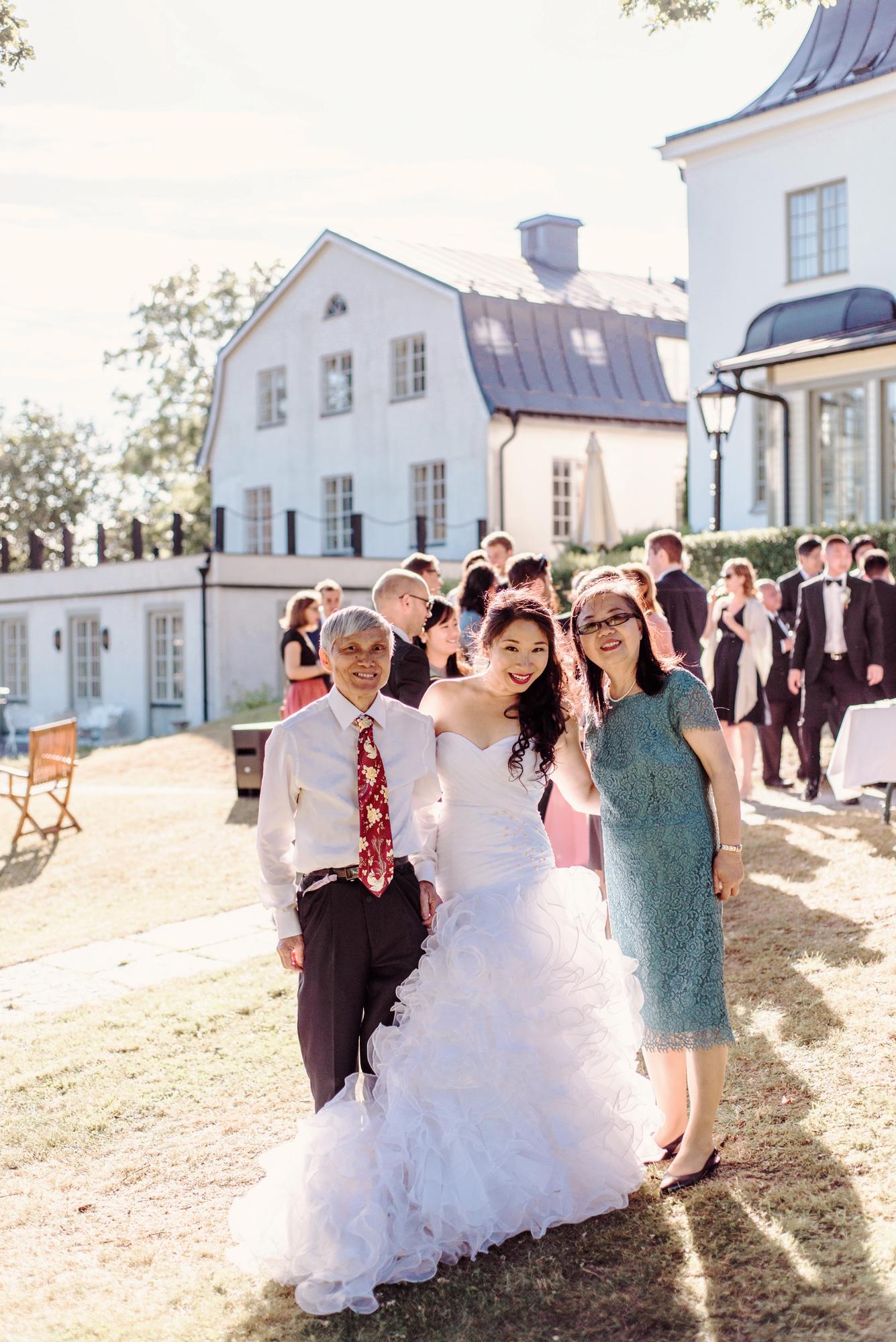 Romantic Outdoor Ceremony Wedding Photographer, Bröllopsfotograf Stockholm