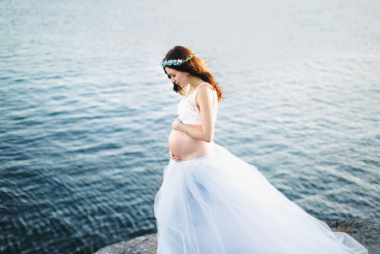 Pregnancy Photo Session Gravidfotograf Pregnancy Photo by the Ocean