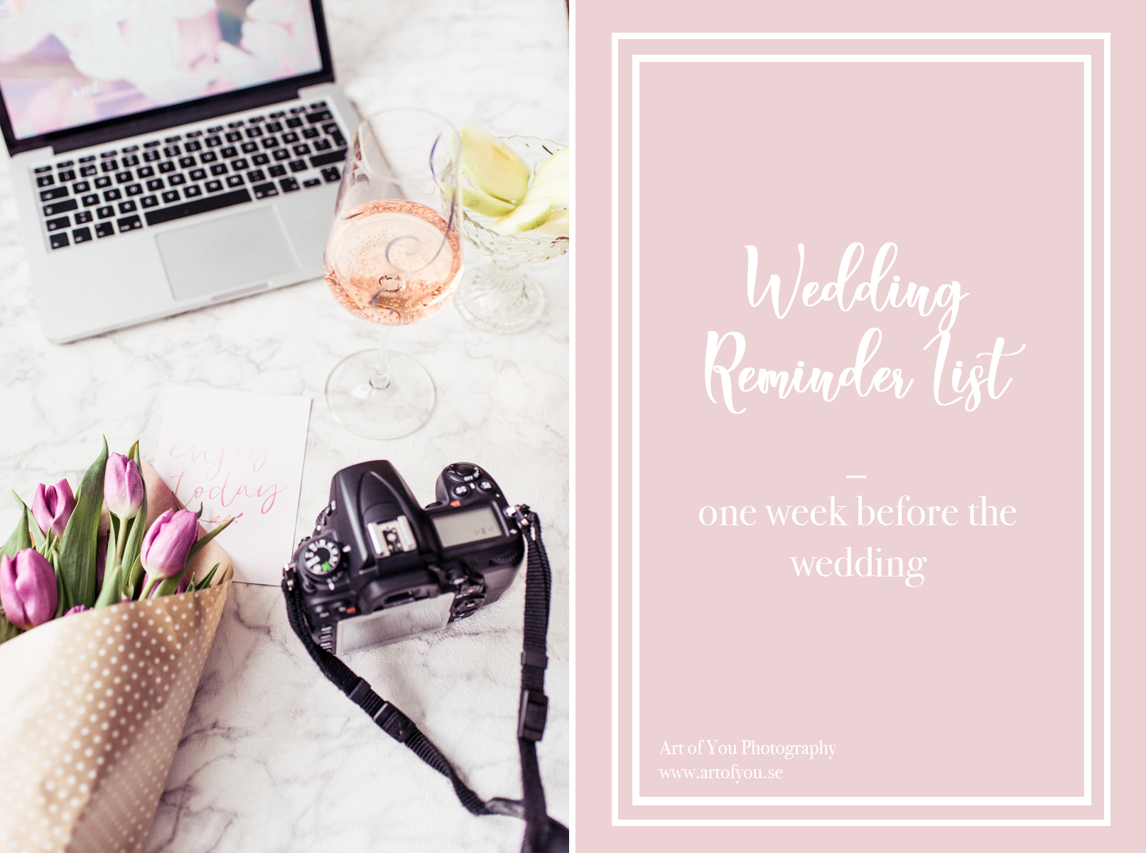 Wedding Reminder List For The Art of You Couple