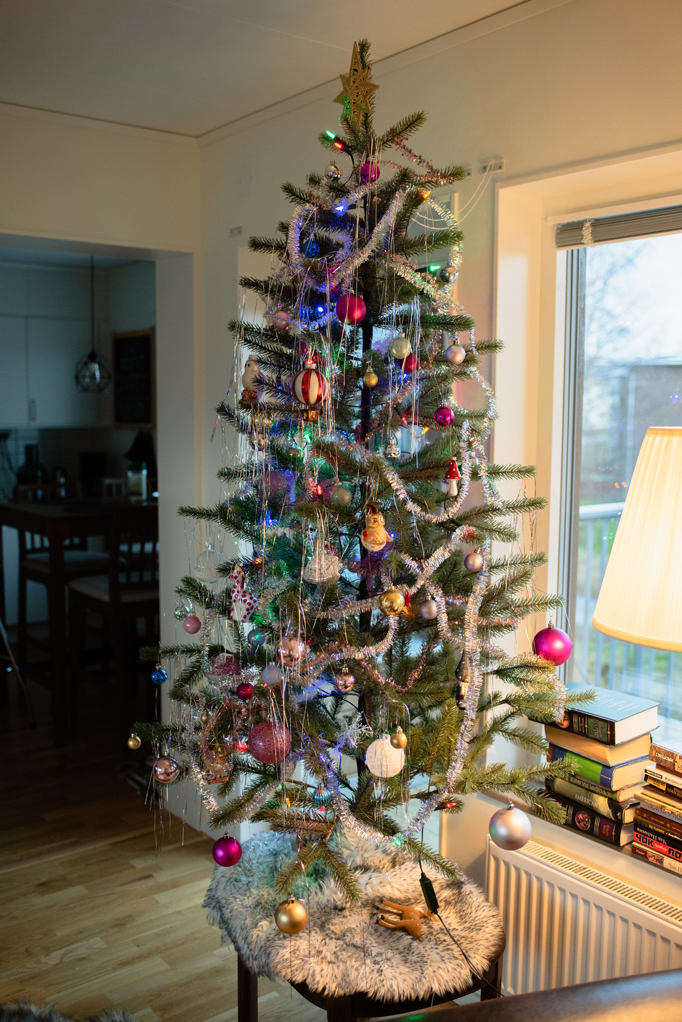 Vintage Christmas Tree| My New Apartment